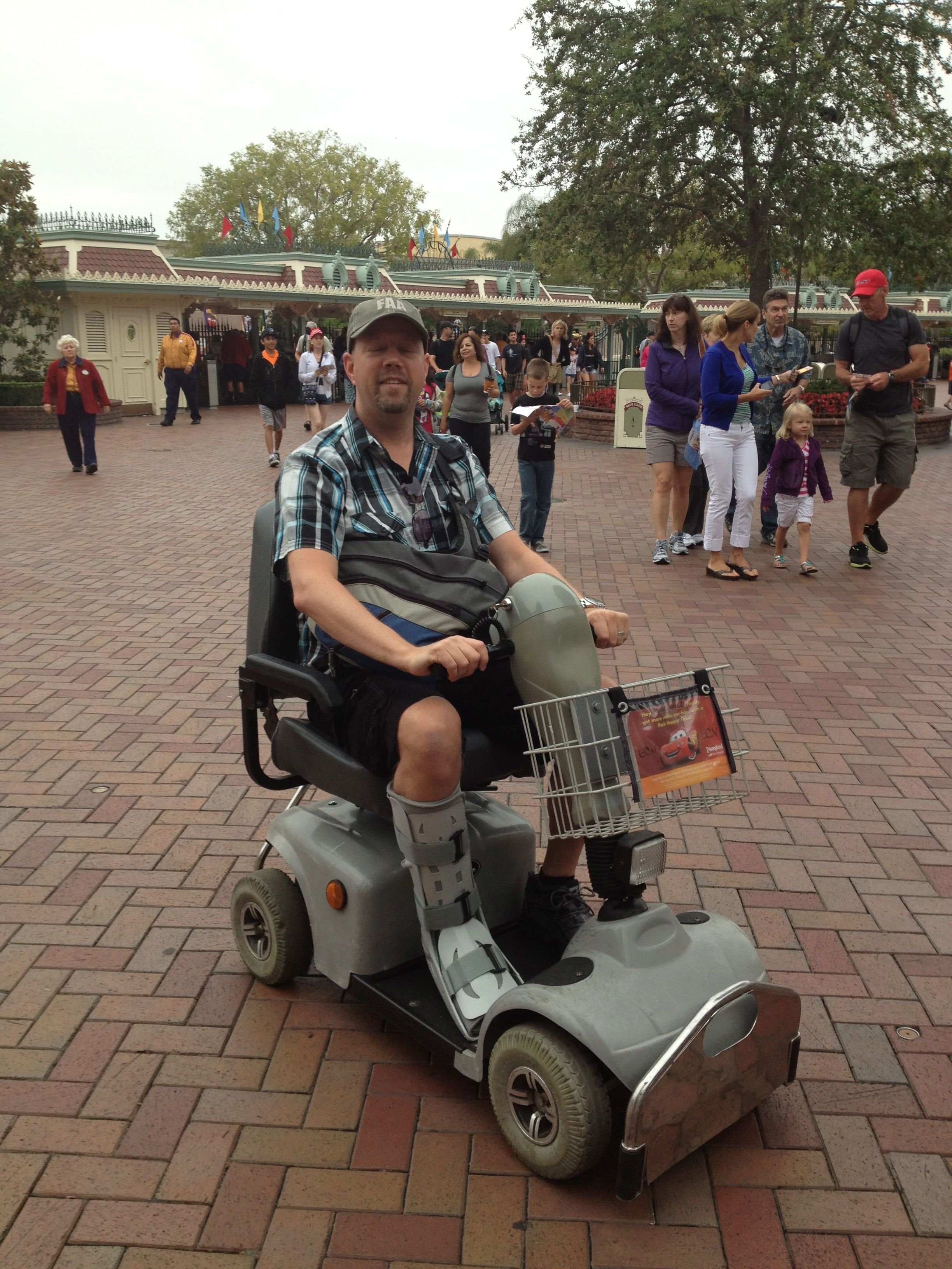 Disneyland cult of achilles a tendon recovery story for Motorized scooter rental disneyland